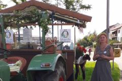 Traktor-Rundfahrt: Halt an der Wendeplatte